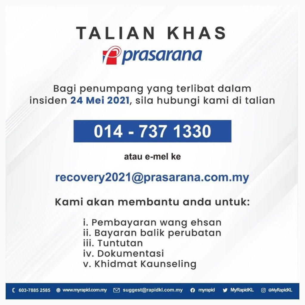 TALIAN KHAS INSIDEN LRT 24 MEI 2021