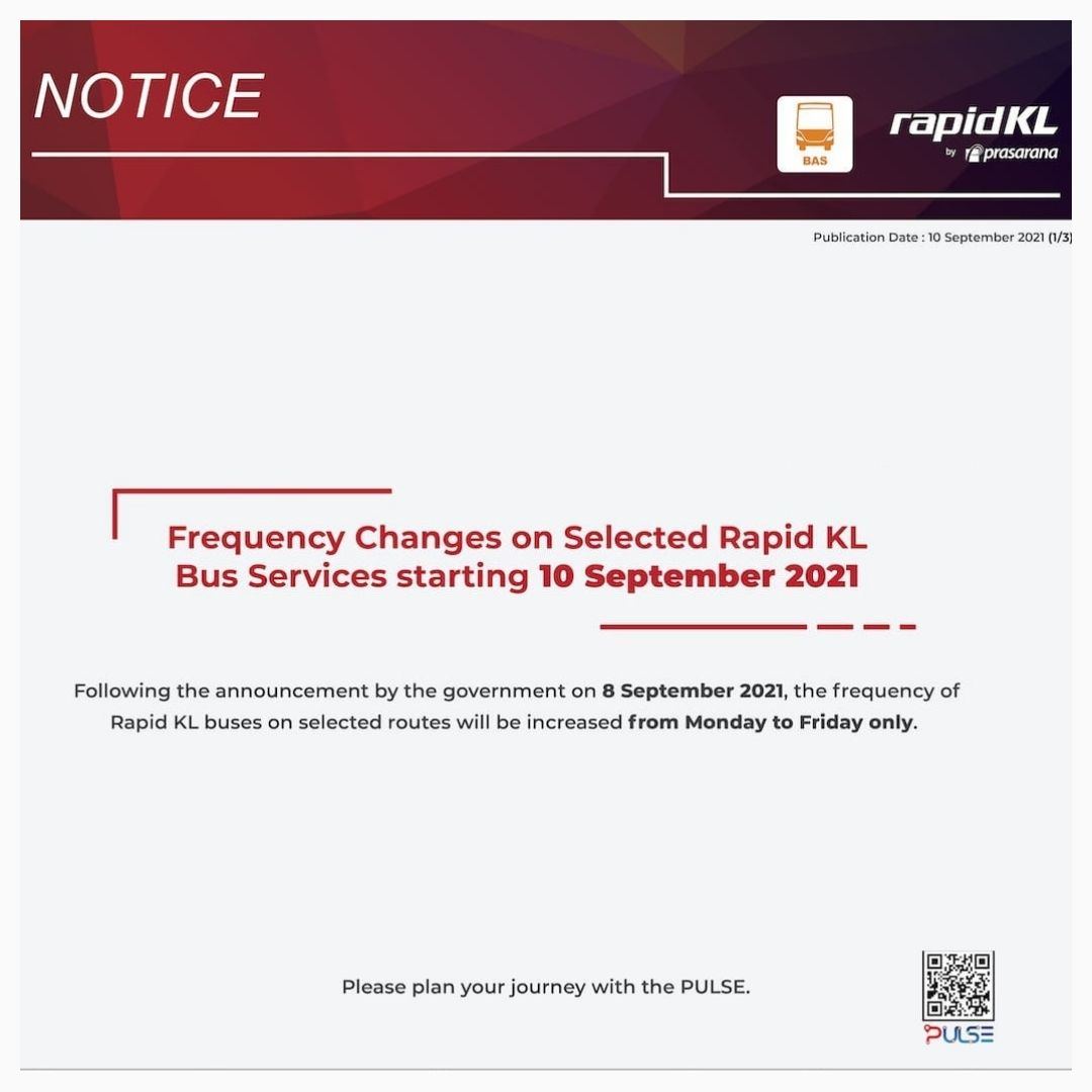 Frequency Changes On Selected Bus Routes
